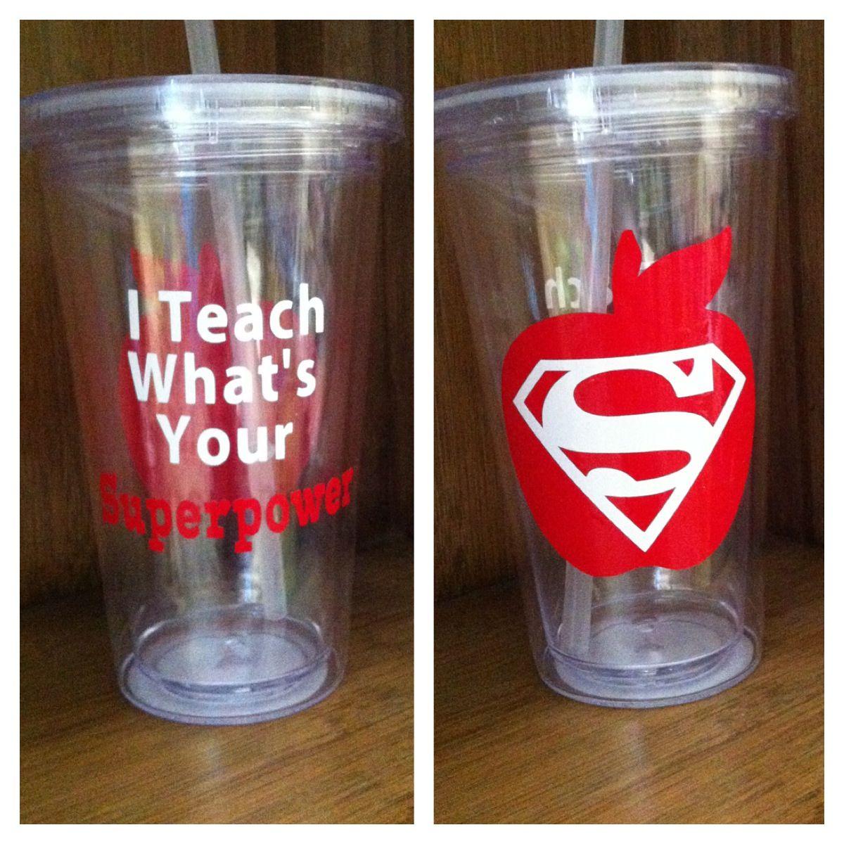 Teacher superpower cup (Gift for the SuperTeach) …   Pinterest