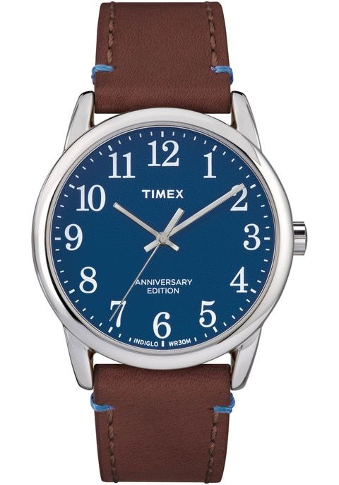 Timex 40th Anniversary Easy Reader Blue Brown
