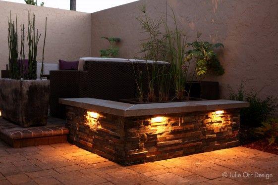 Vista Outdoor Lighting For Underneath Seatwall Designed