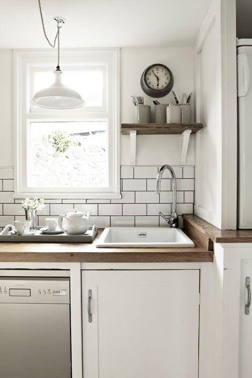 white subway tile dark grout | Wilmer Townhouses | Pinterest ...