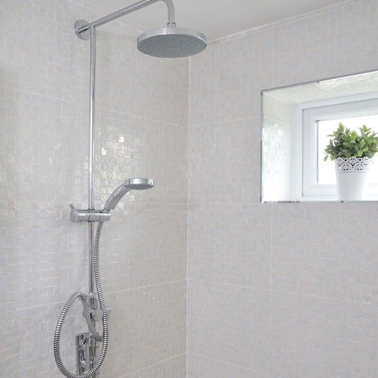 White Shower Tile Design Ideas white tiled bathroom with shower | white tile bathrooms, white