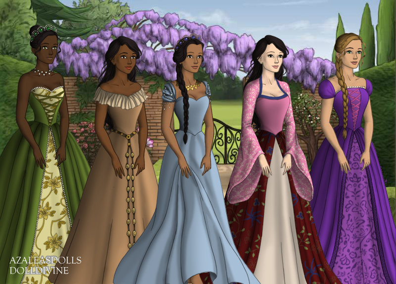 Disney Princess Court Tudor Style Part 2 by InuyashaRules6596 on deviantART