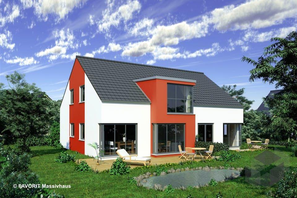 Massivhaus satteldach  Premium 152/58 von Favorit Massivhaus | Klassiker | Satteldach ...