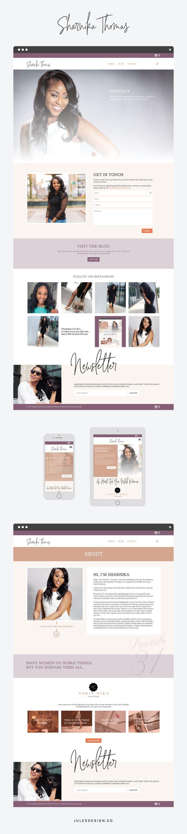 Sharnika Thomas Jules Design Wordpress Website Design Web Development Design Feminine Website Design