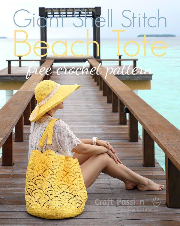 Beach Tote Crochet Pattern • Free Crochet Patterns #craft