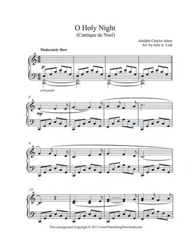 photograph relating to Free Printable Sheet Music for the Sound of Music referred to as O Holy Evening - Cantique de Noel, totally free piano sheet new music