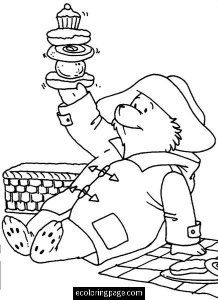 Picnic With Paddington Bear Coloring Page Ecoloringpage Com Bear Coloring Pages Teddy Bear Coloring Pages Coloring Pages