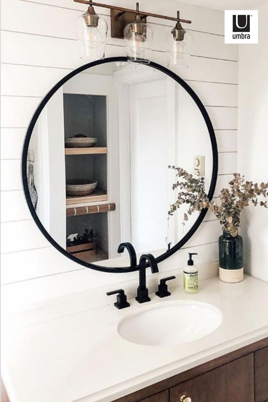 Umbra Hub Wall Mirror Bathroom Renovation Diy Round Mirror Bathroom Diy Bathroom Makeover [ 1500 x 1000 Pixel ]