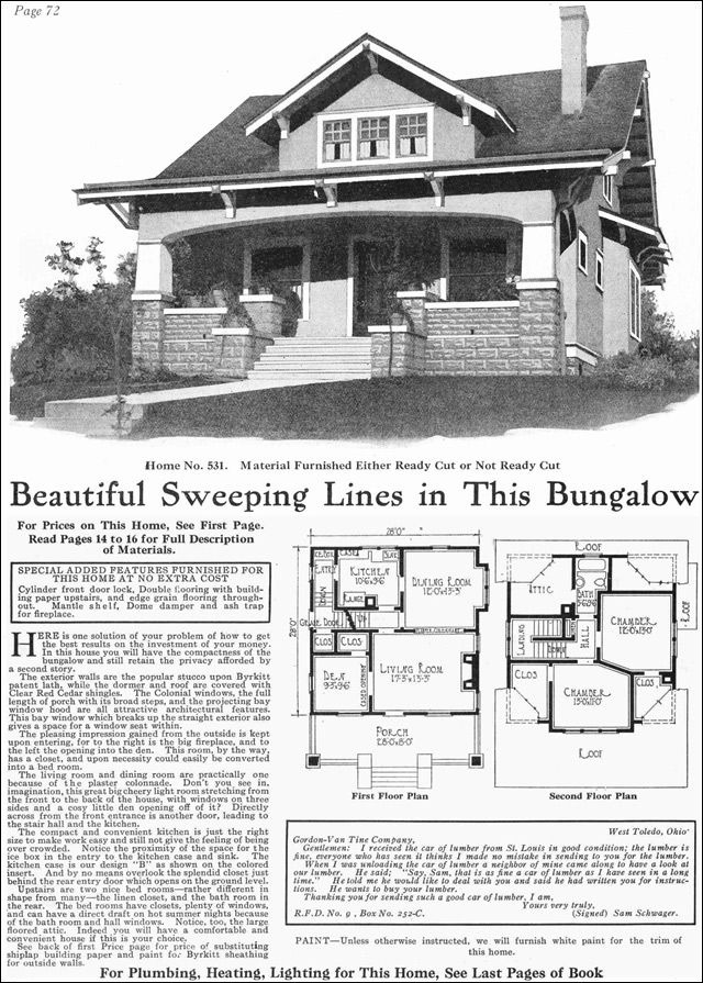 Vintage craftsman style home plans for Original craftsman house plans