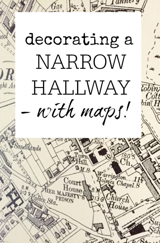 How To Decorate A Narrow Hallway Using Maps Great Idea For Adding Fun E Without Taking Up Any Wall Decoration
