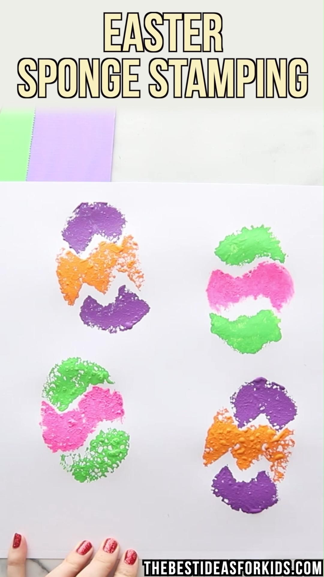 Easter Sponge Stamps