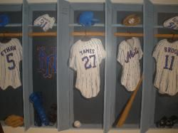 Mets Baseball Locker Room Wall Mural