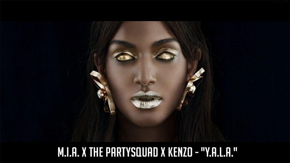 """M.I.A. x The Partysquad x KENZO - """"Y.A.L.A."""" >> http://youtu.be/r4VQoP2_eL4"""