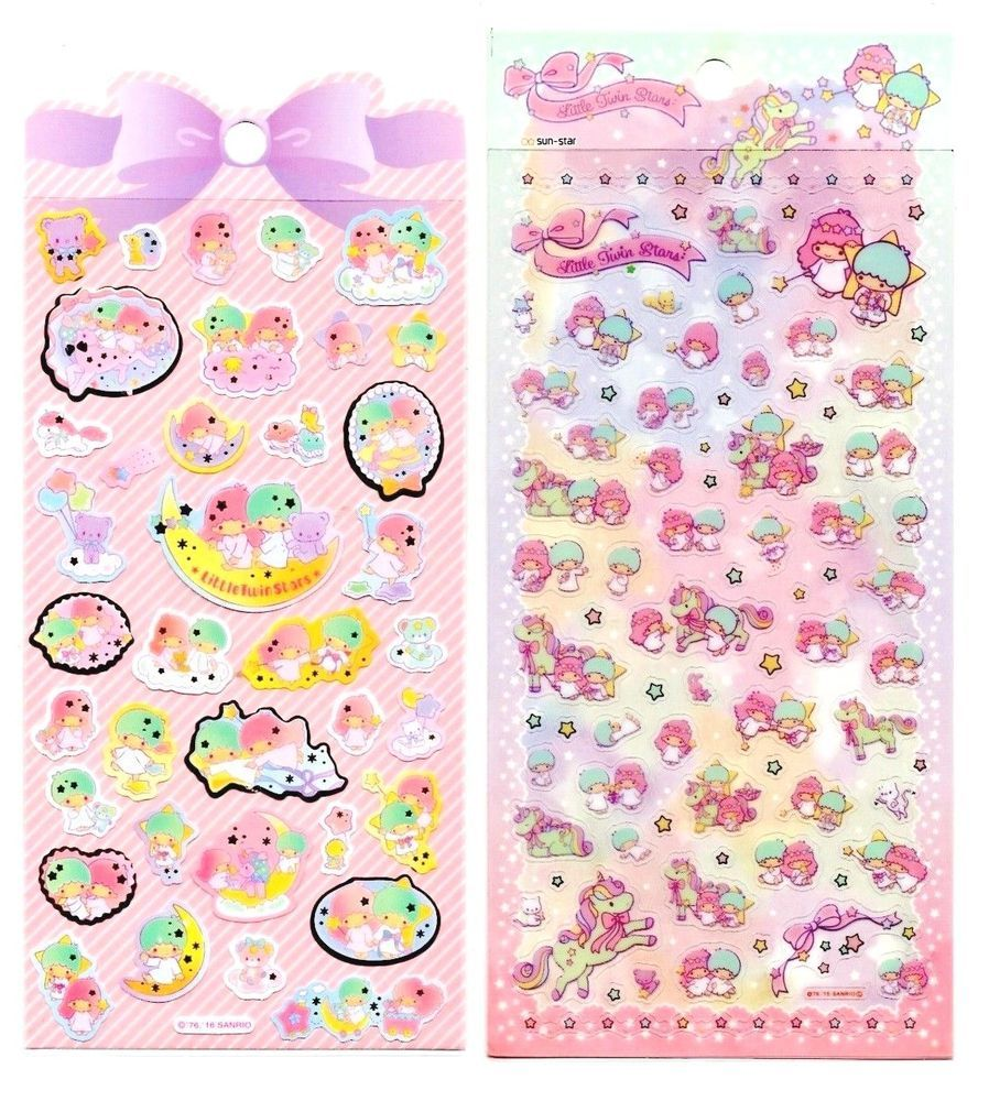 Sanrio Original Little Twin Stars Stickers Sticker Sheet Kawaii Unicorn Japan B