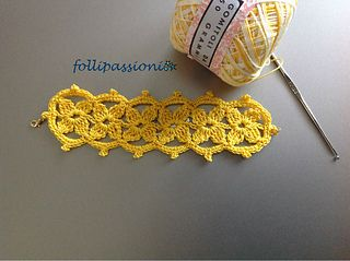 This is a fun bracelet to crochet because it always looks so pretty wearing it!!... Free pattern!