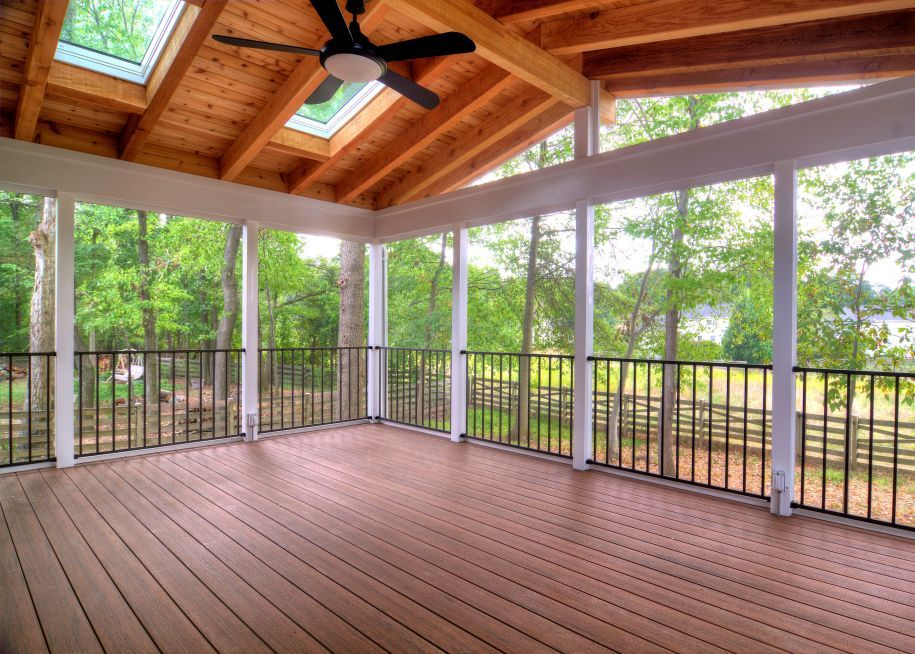 Open and screen porches are a Northern Virginia favorite