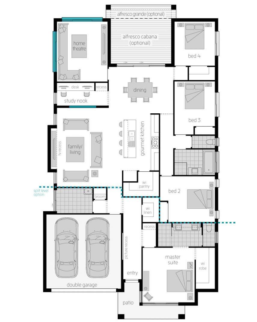 Floor plan upgrade portsea two dream house plans