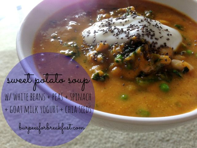 Sweet potato soup via @jenalauren7