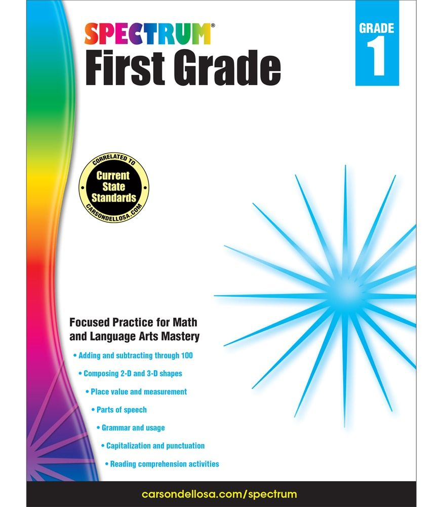 Spectrum First Grade Workbook Grade 1 Ebook Reading Comprehension Skills Part Of Speech Grammar Workbook [ 1000 x 875 Pixel ]