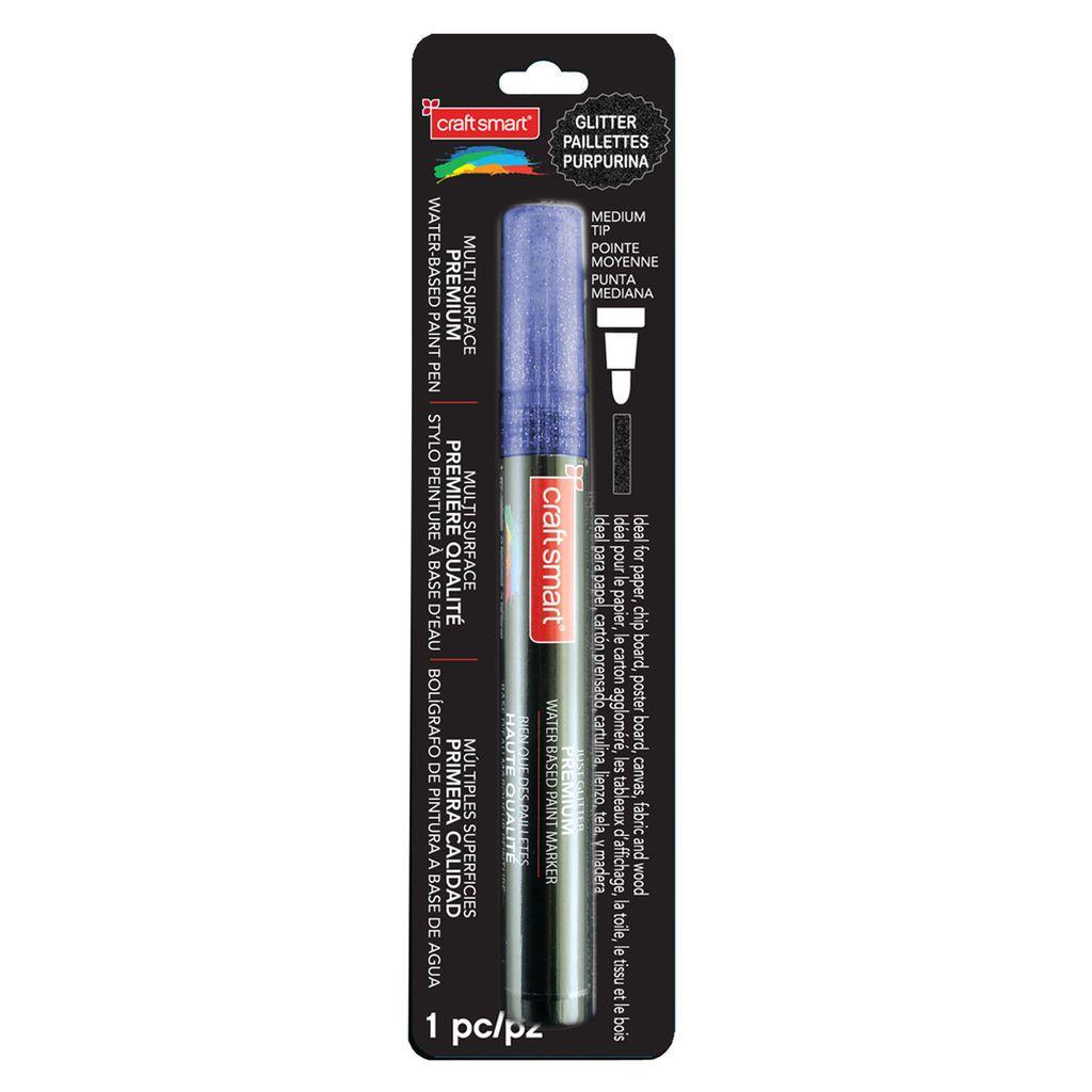 Glitter Medium Tip Multi Surface Premium Paint Pen By Craft Smart Glitter Paint Pens Paint Pens Glitter Paint