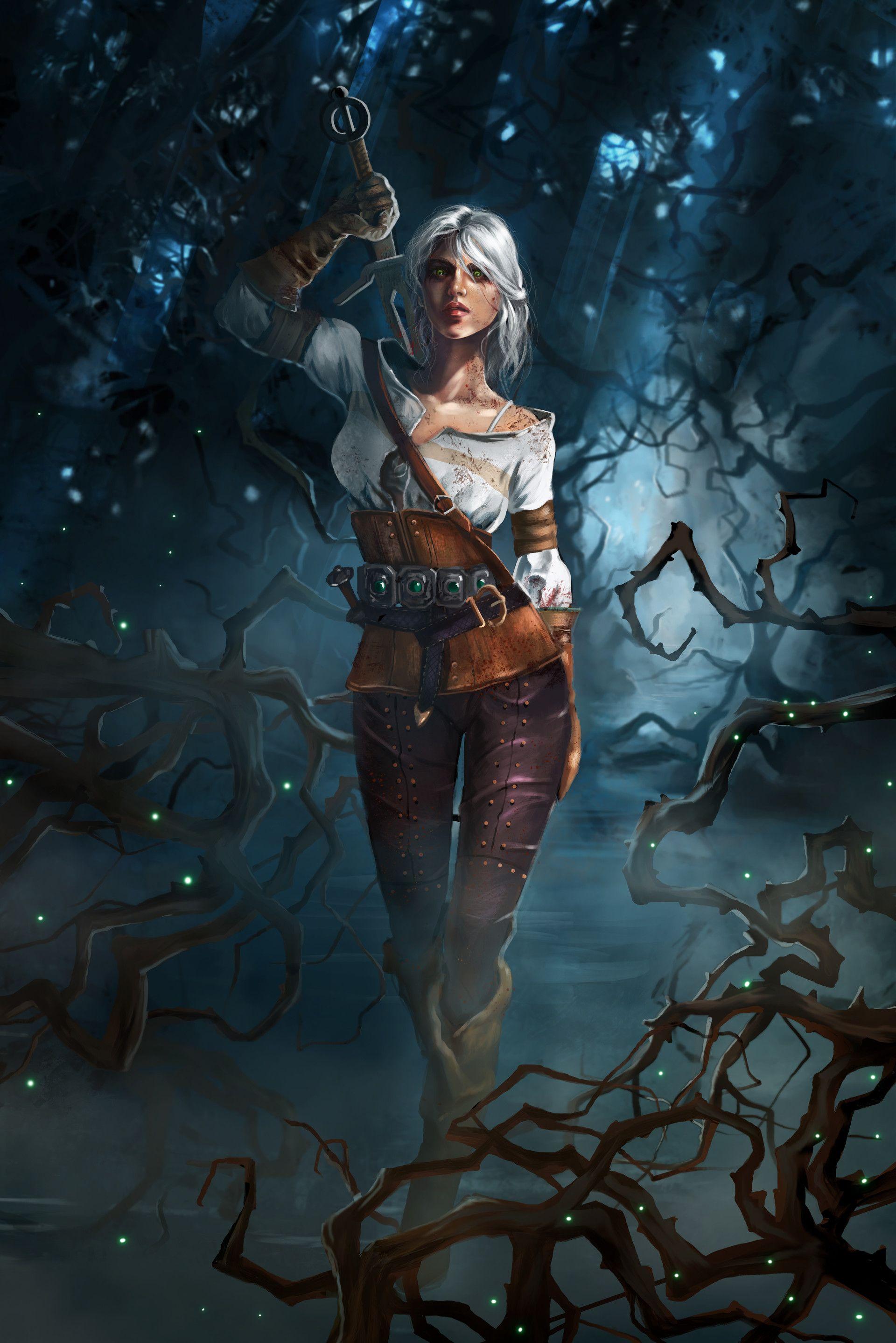 Artstation Ciri The Witcher 3 Fanart Grazia Ferlito The Witcher Game The Witcher Geralt The Witcher Ciri witcher 3 hd games artwork