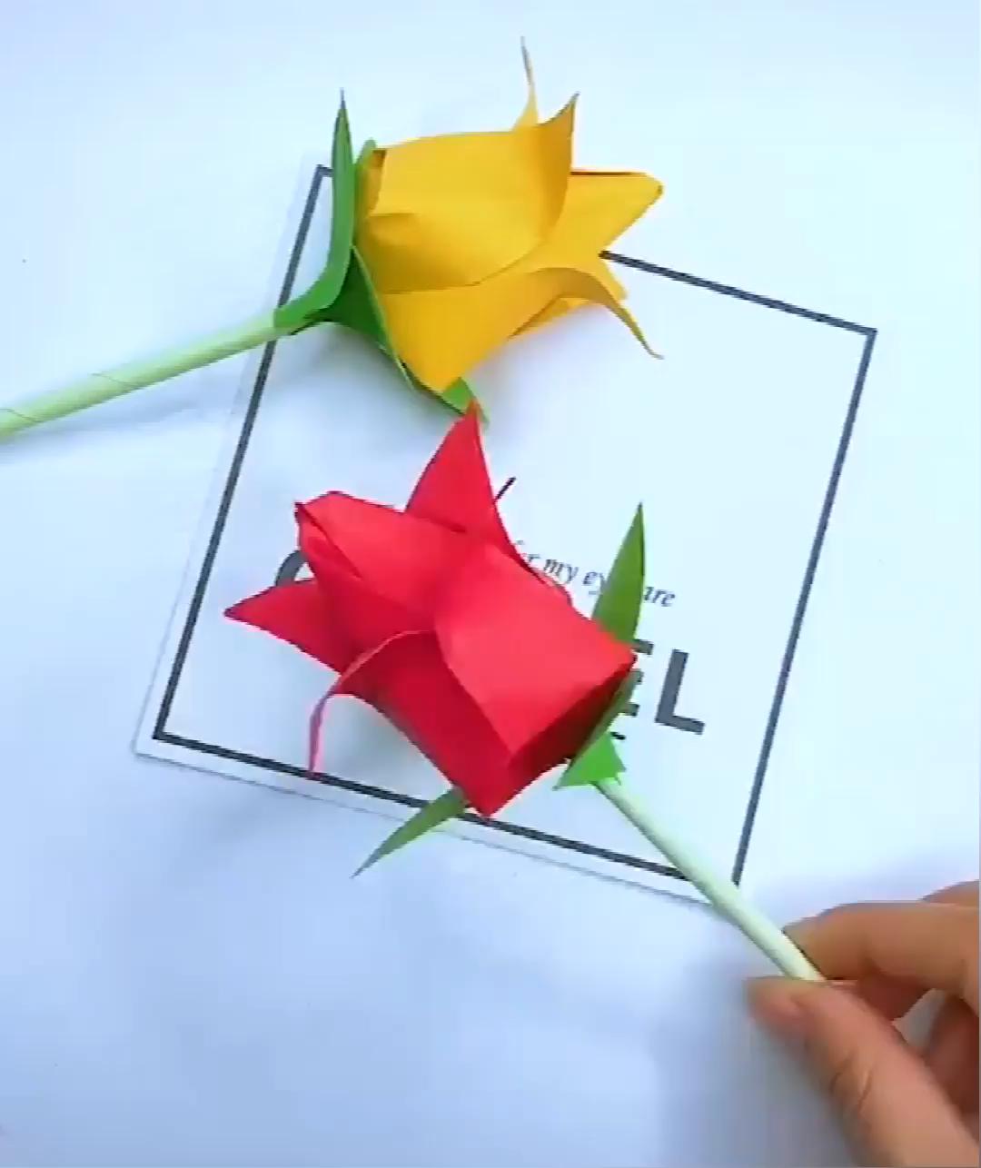 #flowers #origami blume #paper #tutorial