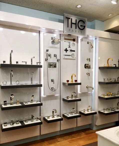 Bathroom Showroom Design Ideas: Some Of The Fabulous Faucet Sets From THG Paris On Display