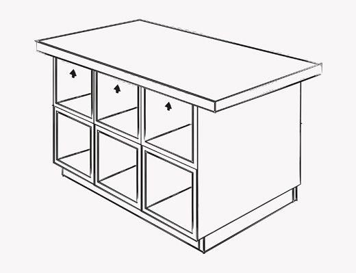Schematischer Plan für die Gestaltung eines Rahmens für eine selbst ...