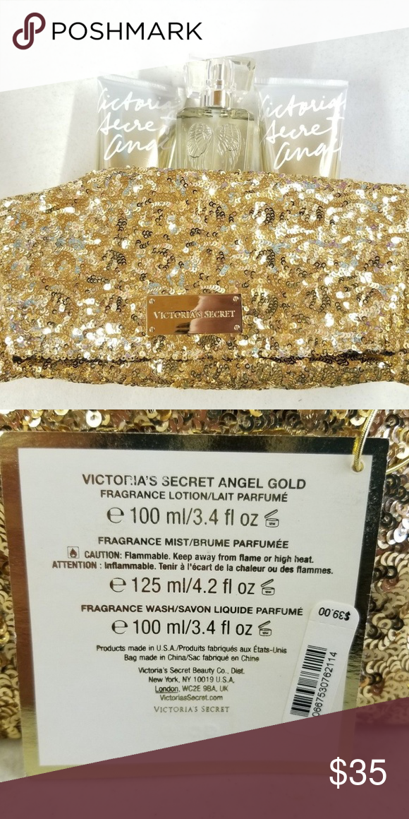 a117c269c3a7c VICTORIA'S SECRET ANGEL GOLD GIFT SET Very nice brand new Victoria's ...
