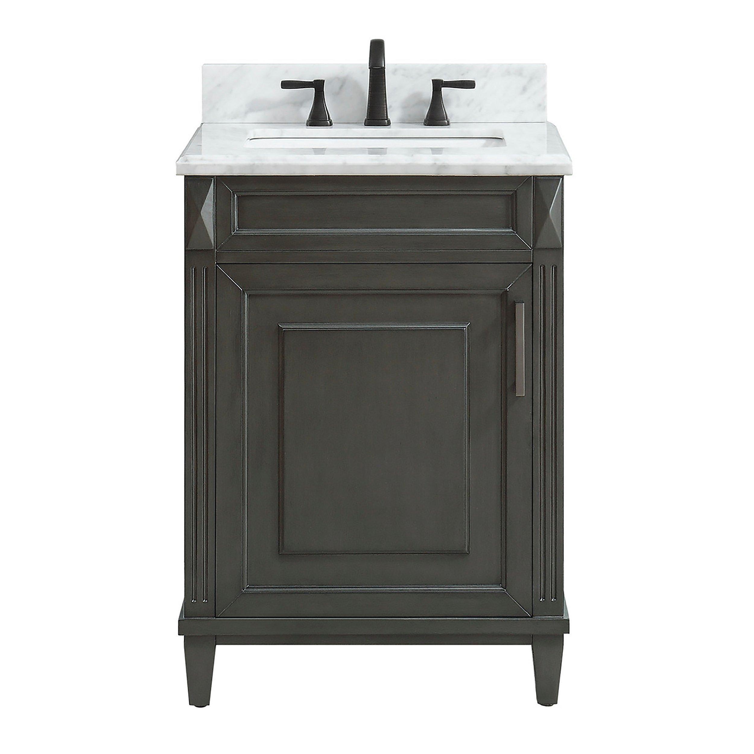 Sterling 25 In Vanity With Carrara Marble Top In 2021 Vanity Marble Wood Polished Porcelain Tiles 25 inch vanity top