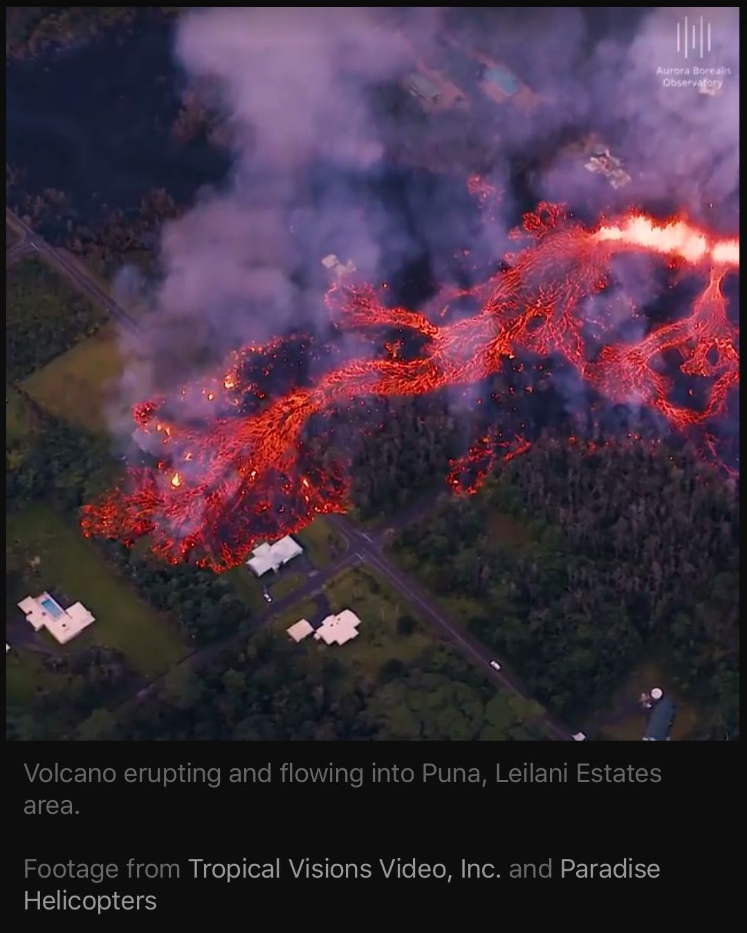 Kilauea Volcano eruption on main island, Hawaii. May 9, 2018