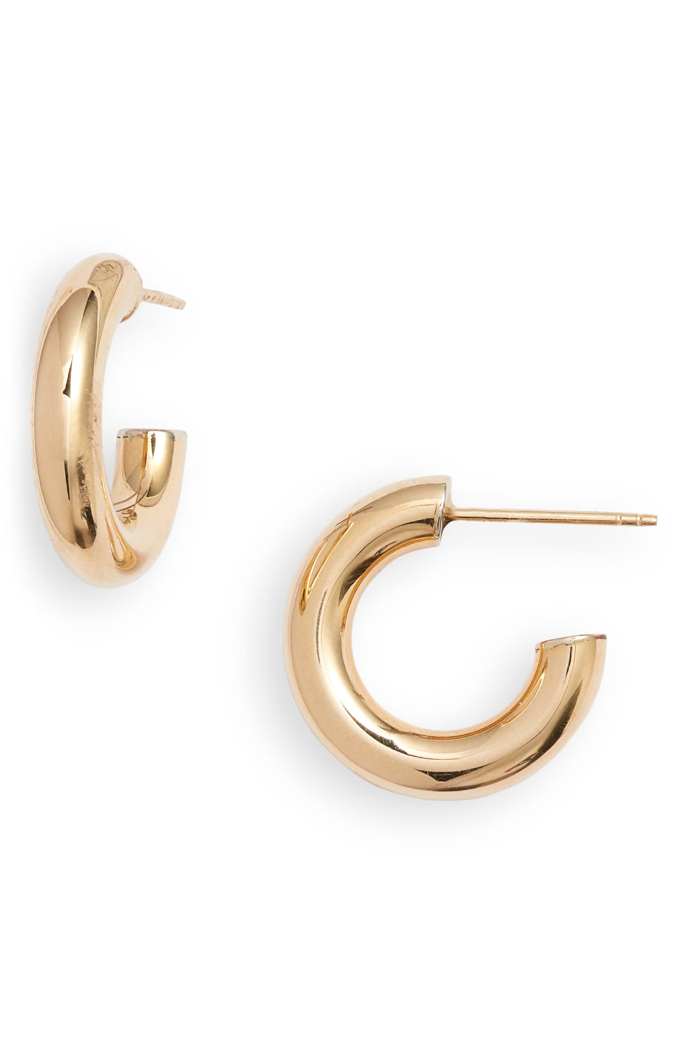 Bony Levy 14k Gold Small Thick Hoop Earrings Nordstrom Exclusive Nordstrom In 2021 Small Gold Hoop Earrings 14k Gold Hoop Earrings Hoop Earrings