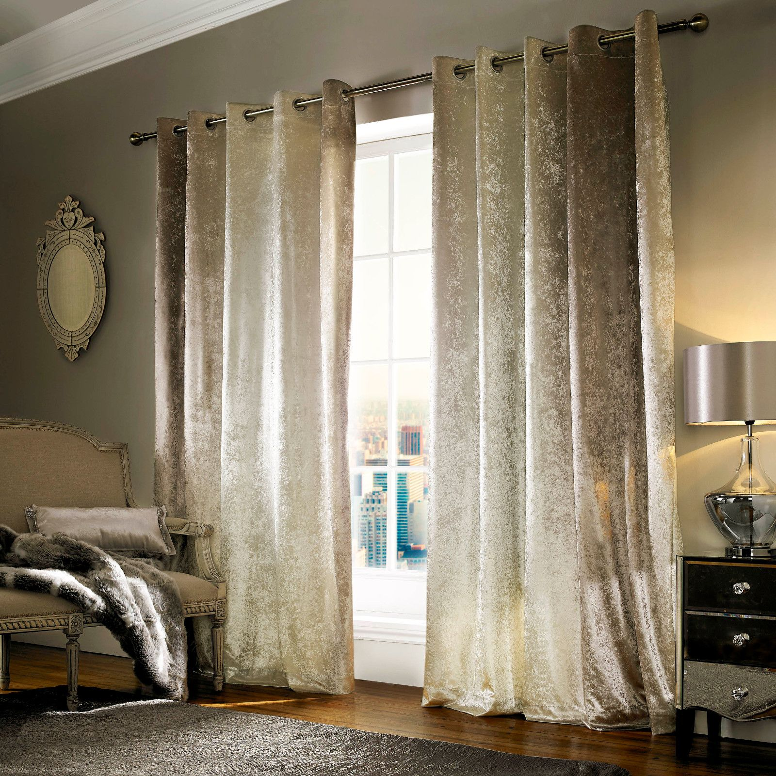 Kylie minogue natala champagne curtains kylie minogue at home beautiful curtains home curtains