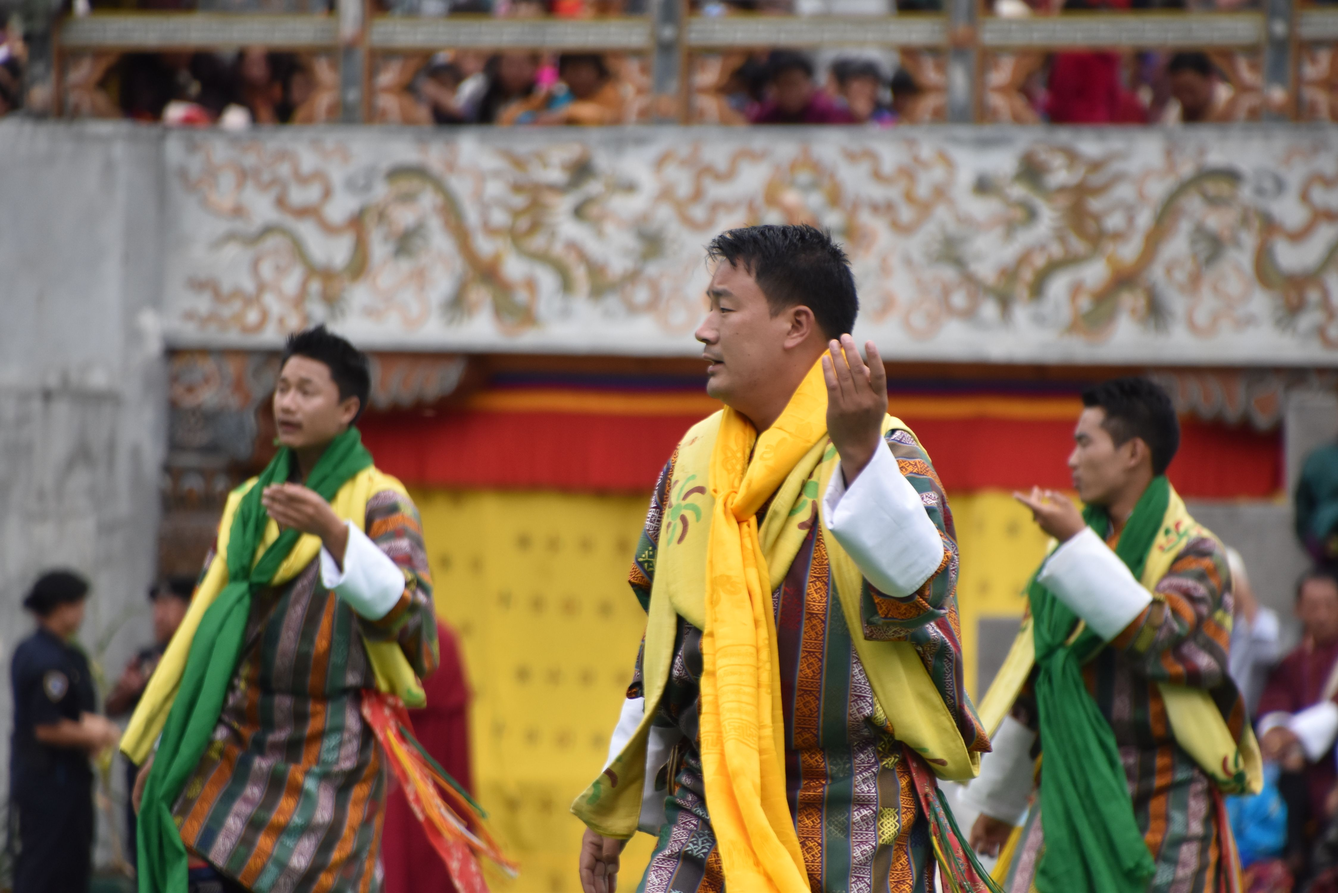 Performing Bhutanese Clical Song