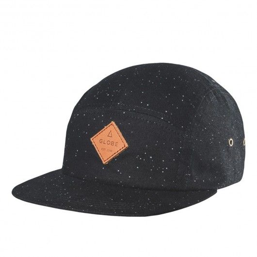 GLOBE Hartford 5 Panel casquette noire mouchetée 29 3c4f4a93a5b5
