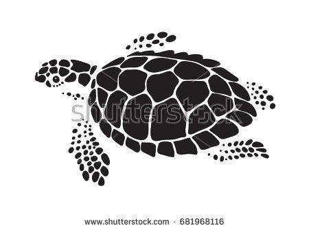 Silhouette Of Turtle Sea Men/'s Tee Image by Shutterstock