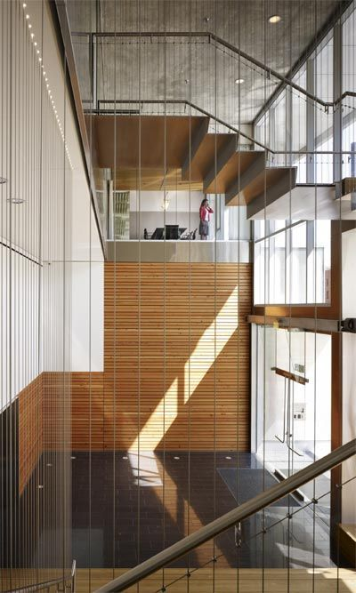 Zgf Portland Suspended Stairs Interior Accent Wall Interior Architecture Design Residential Design