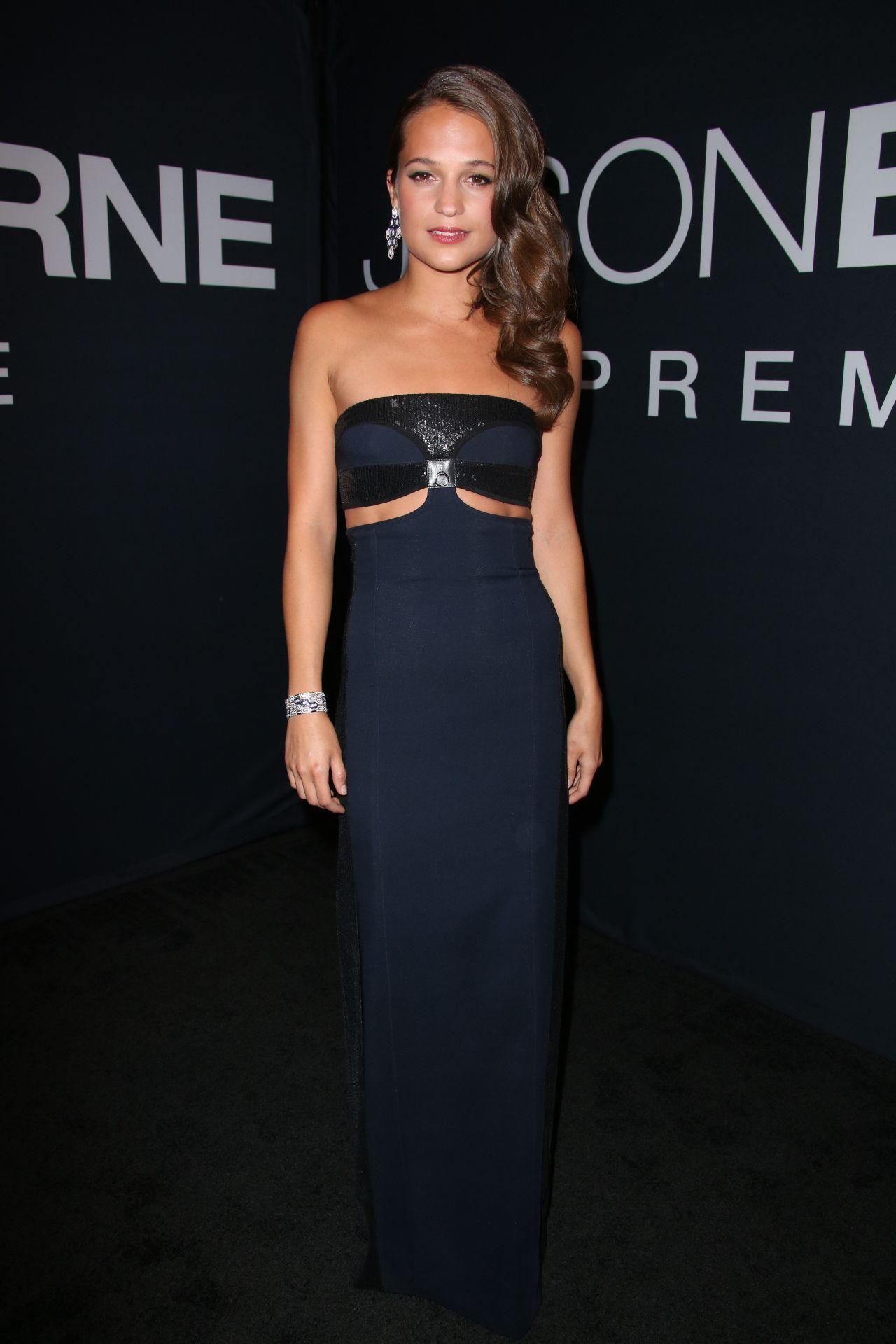 Alicia Vikander – 'Jason Bourne' Premiere in Las Vegas 7/18/2016