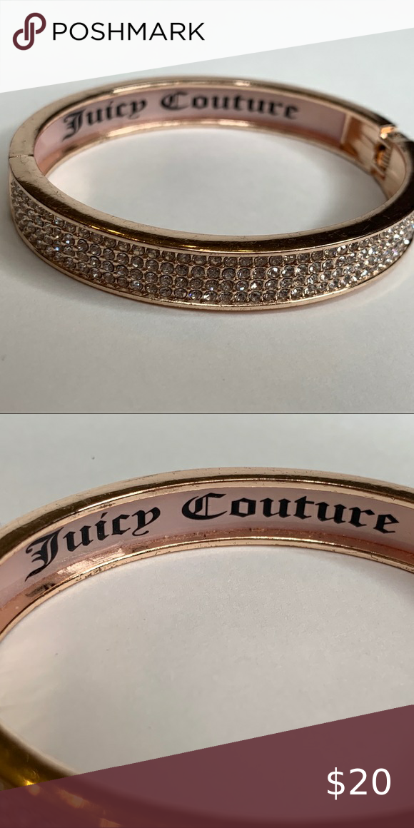 Juicy couture pink hinged cuff bracelet