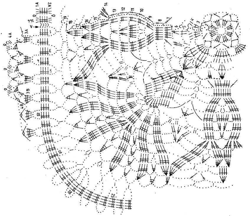 Схемы салфеток крючком картинки