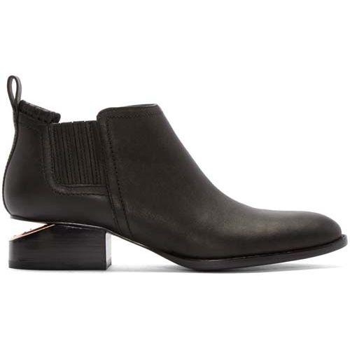 4ea593fc0 Alexander Wang Black Notched Heel Kori Ankle Boots