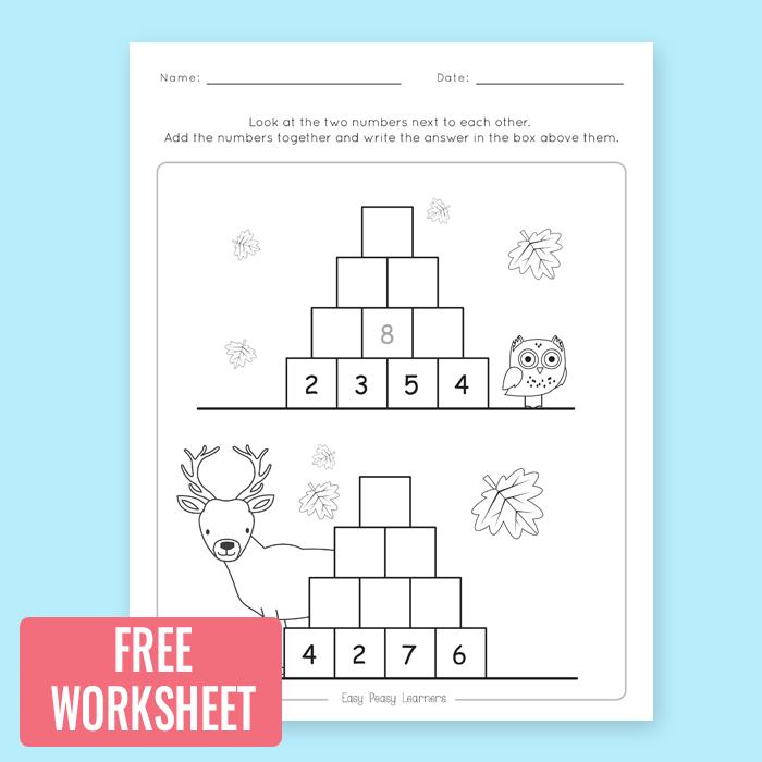 Free Printable Addition To 100 Worksheet School Pinterest
