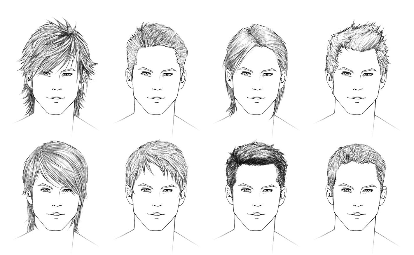 draw boy hairstyles