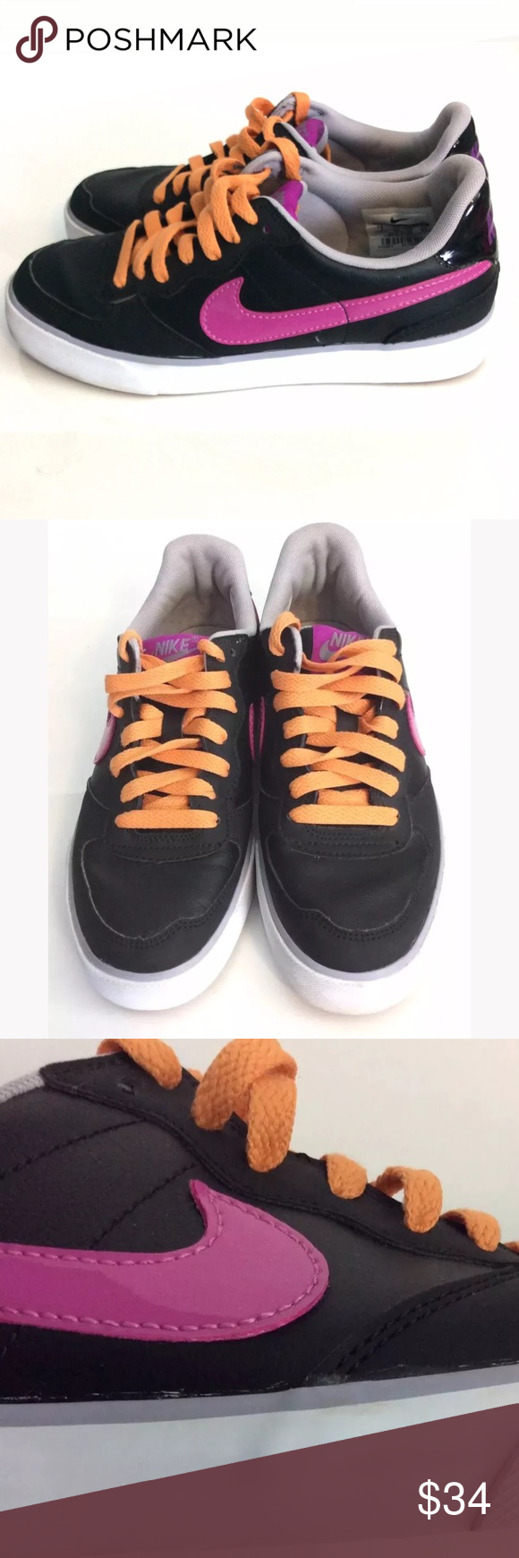 92bc64a3928d 🔥Nike Sweet Ace Sneakers Sz 7 Black and Magenta Nike Sweet Ace 83 Sneakers  features