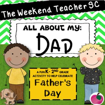 Students will have fun being creative as they write about their father. These sheets can be turned into simple books as well! I would print these pages on white cardstock Please leave some feedback for me as I love to read your comments and suggestions!
