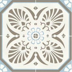 Carreau De Ciment Decore Gris Bleu 20x20 Cm Ref7690 2 Carreaux
