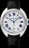 Clé de Cartier watch 40 mm, 18K white gold, leather