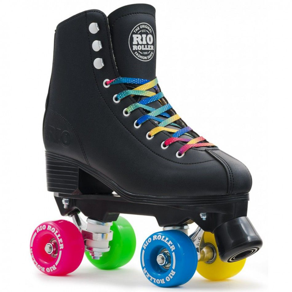 Rio roller roller quad figure grandes pointures noir rollers quad patines y gorras - Patin antiderapant chaussure ...