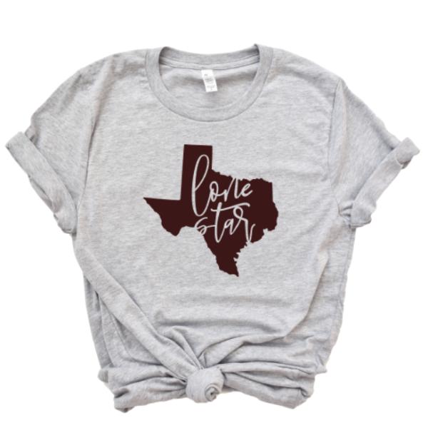 Texas Lone Star Shirt Homade Studio Texas Home Shirts Star Shirt Bella Canvas Shirt