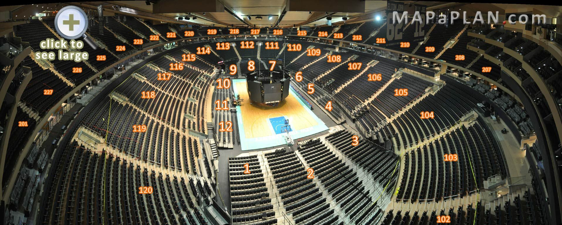 Madison square garden seating chart interactive basketball 3d panoramic photo concert seating for Seating chart for madison square garden